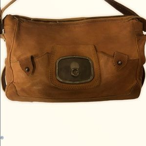 CELINE authentic weather leather rustic bag